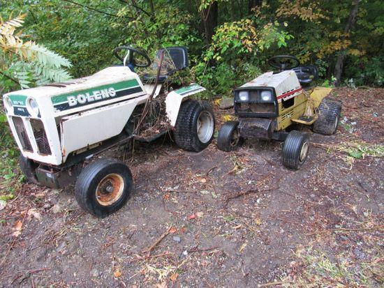 Bolens H12XL Garden Tractor & Sears LT/10E Garden Tractor