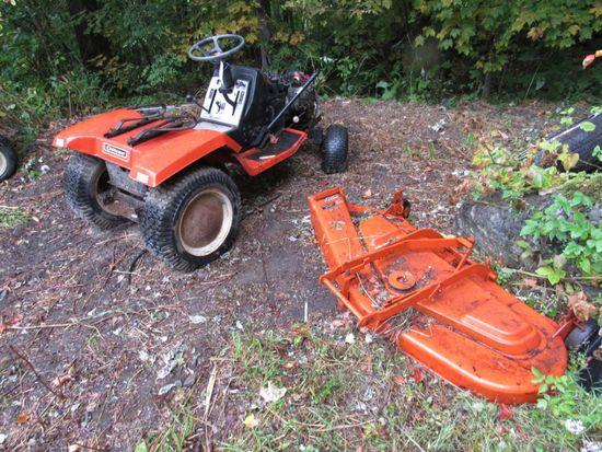 "Gilson Garden Tractor & 48"" Mowing Deck"