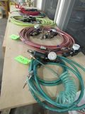 (6) Air Hoses, Regulators & Asst. Chucks
