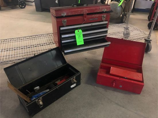 (3) Toolboxes with Contents