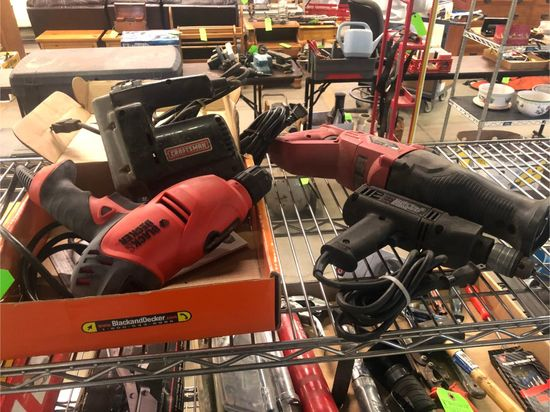 (4) Corded Power Tools