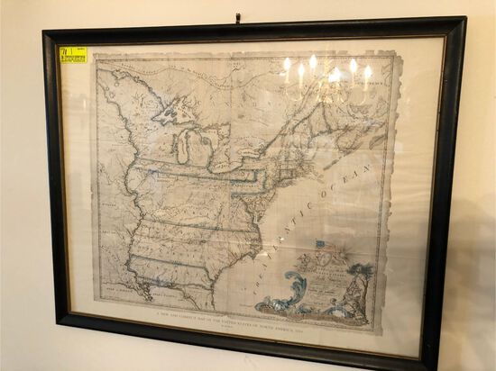Contemporary Edition of 1785 Map od United States