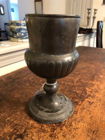 Antique Pewter Goblet