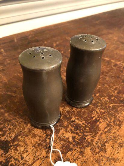 Pair of Vintage Pewter Shakers