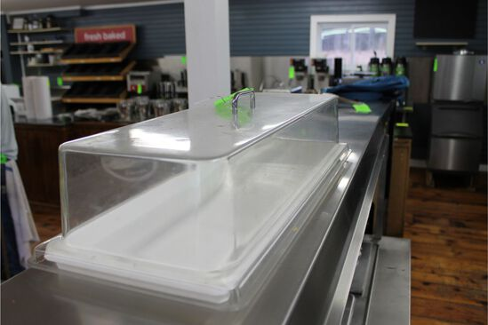 Poly Half Pan Pastry Display with cover