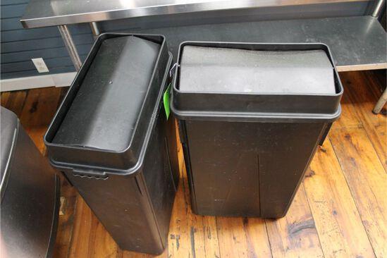 (2) Slim Jim Trash Cans