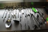 (21) Stainless Steel Serving Pcs.