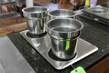 Stainless Steel Steam Pan Cover with (3) Bain Maries