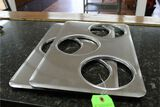 (2) Stainless Steel Steam Pan Cover with 3 6.25
