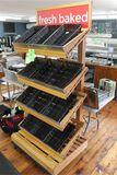 4 Tier Oak Baked Goods Merchandiser