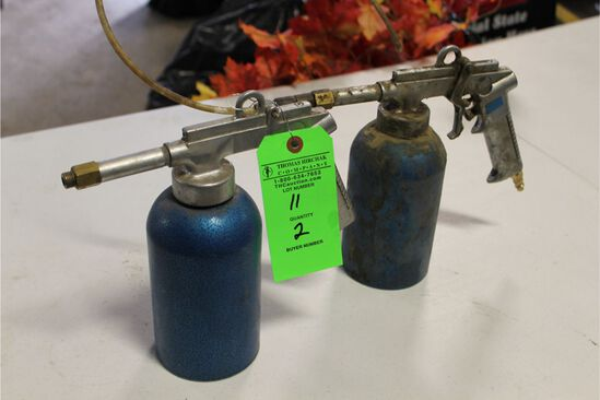 (2) Pneumatic Spray Guns w/ canisters