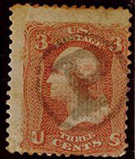 1867 3c Washington Rose