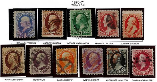 (11) 1870-71 US Stamps
