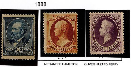 (3) 1888 US Stamps