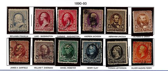 (13) 1890-93 US Stamps