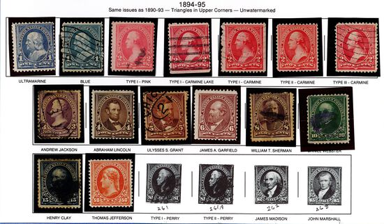 (15) 1894 US Stamps
