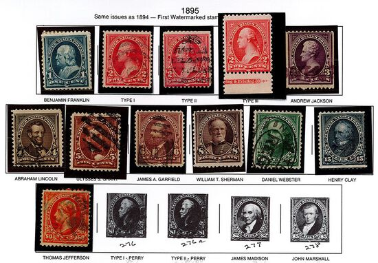 (12) 1895 US Stamps