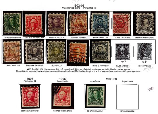 (15) 1902-03 & 1906-08 US Stamps