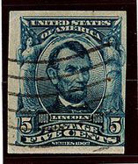 1906-08 5c Lincoln (#315)