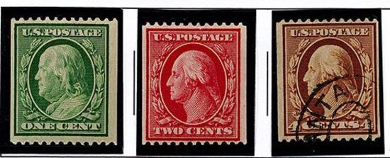 (3) 1908 & 1910 US Stamps