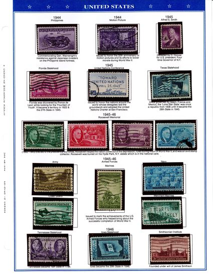 Comprehensive US Stamp Collection