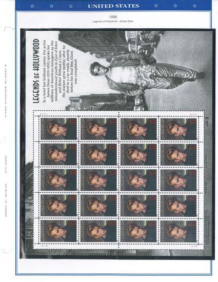 Binder of USA Stamps (1996-2000)