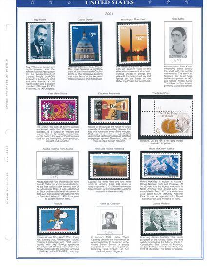 Binder of USA Stamps (2001-2002)
