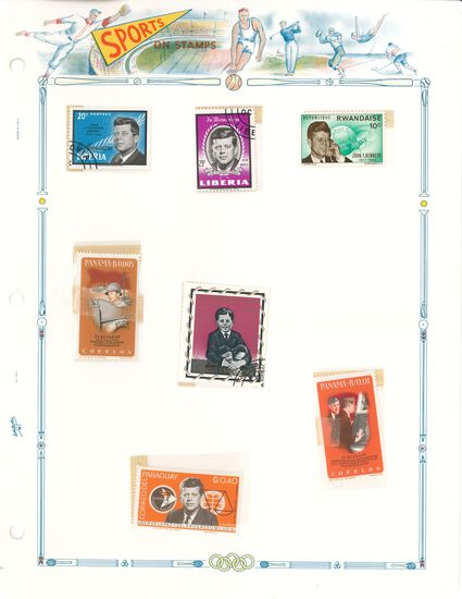 Binder of Sports Related Stamps