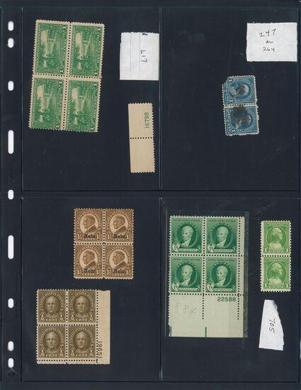Assortment of USA Plate Blocks (Various Denominations)