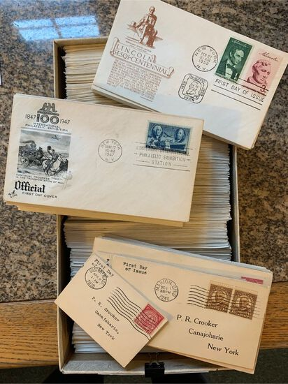 Large Collection of USA First Day Covers