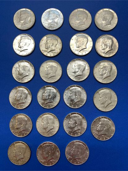 (23) Kennedy Silver Clad Half Dollars