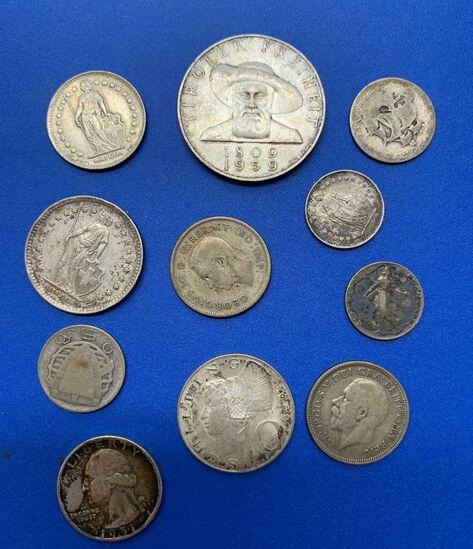 (11) Asst. Silver Foreign Coins
