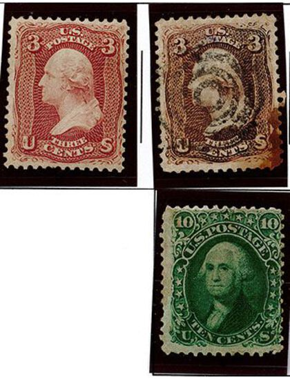 (3) 1861-62 US Stamps