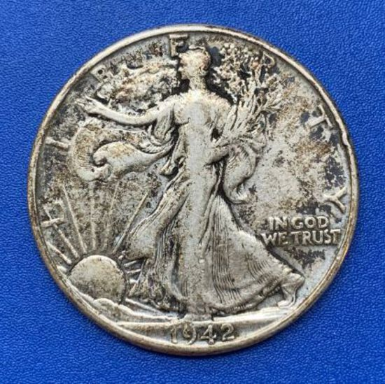 1942 Liberty Walking Half Dollar