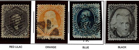 (4) 1861-66 US Stamps