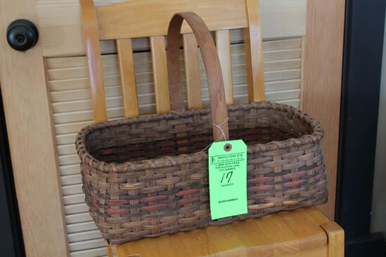 Wood-Handled Ash Basket