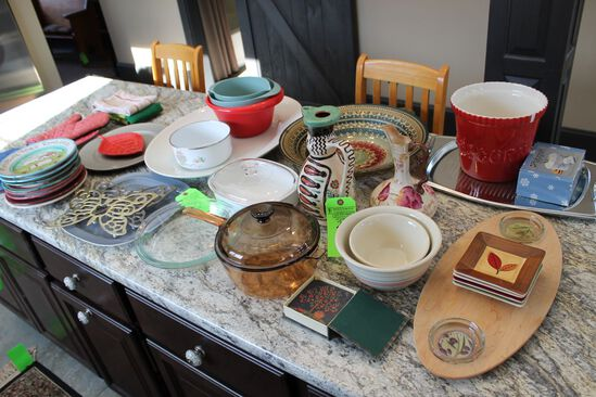 (35) Assorted Serving Plates and Bowls