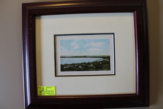 Framed Vintage Post Card of St. Albans Bay