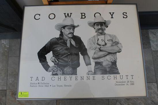 Tad Chayenne Schutt Cowboys Poster