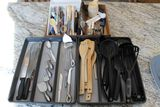 (40) Assorted Serving Utensils & Trays