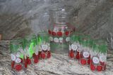 Iced Tea Pitcher & (6) Drinking Glasses