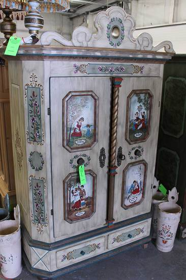 Voglauer Austrian Style Painted Pine Armoire