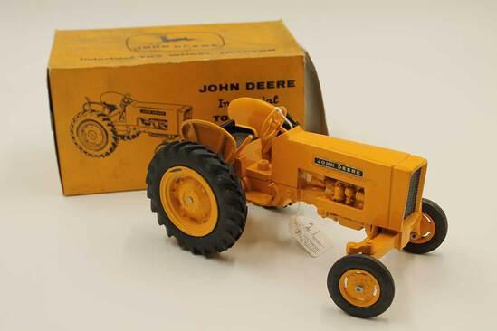 Vintage John Deere Industrial Toy Wheel Tractor