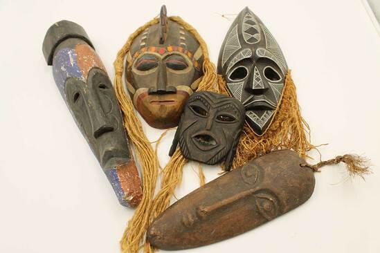 (5) Tribal Masks