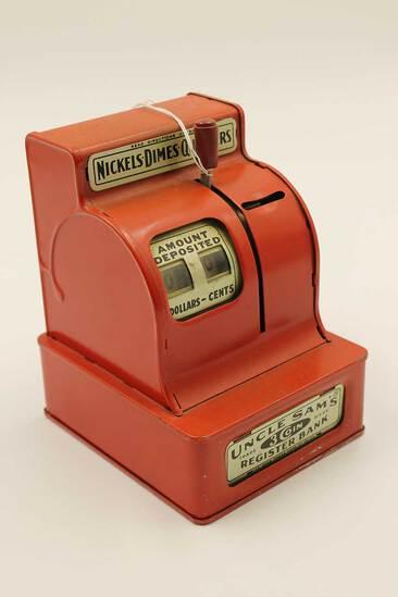 Vintage Uncle Sam 3-Coin Register Bank