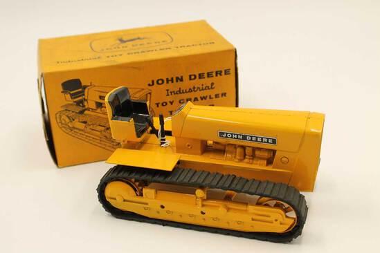 Vintage John Deere Industrial Toy Crawler Tractor