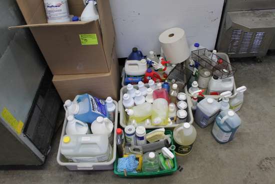 Large Quantity of Cleaning Supplies