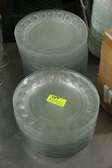 "(49) 9"" Glass Plates"