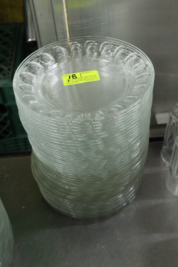 "(44) 7.5"" Glass Plates"