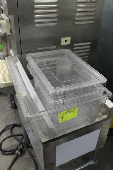 (3) Cambro Food Containers